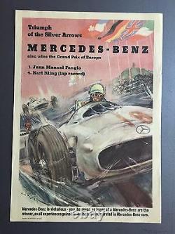 1954 Mercedes Benz Triumph De The Argent Flèches Victoire Imprimé/Affiche