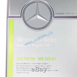 20L Original Mercedes Synthétique Huile Oelservice 5W30 MB 229.51 A000989701 20