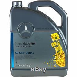 9L Set D'Inspection Mercedes 229.5 Huile 5W-40 + Mann Filtre à Huile 11117600
