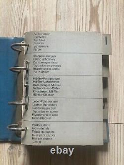 Catalogue Original Mercedes Couleurs et capitonnages