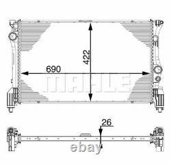 MAHLE ORIGINAL Radiateur refroidissement du moteur MERCEDES-BENZ V-CLASS W447