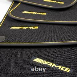 Mercedes Benz AMG Édition 1 Original Tapis de Sol Noir/Jaune X 253 Glc SUV Neuf