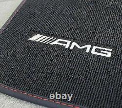 Mercedes Benz AMG Original Paillassons Noir/Rouge C 238 Classe E Coupé Rhd Neuf