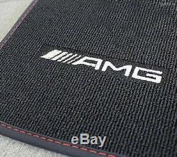 Mercedes Benz AMG Tapis de Sol Original Noir/Rouge W 246 Classe B LHD