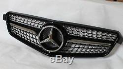 Mercedes Benz Classe C W204 Noir Brillant Sport Grille Aspect Diamant Original