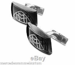 Mercedes Benz Maybach Original Boutons de Manchette Verre/Rhodium