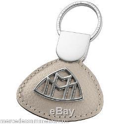 Mercedes Benz Maybach Original Porte-Clés Nappa Beige Soie Neuf Emballage