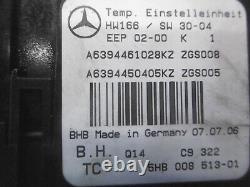 Mercedes-Benz Original Vito Viano 639 Dispositif de Commande L'Air De Chauffage