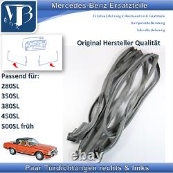 Mercedes-Benz W107 R107 380SL Paire Joints de Porte En Original