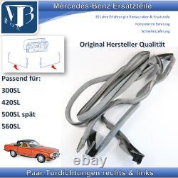 Mercedes-Benz W107 R107 Sl Paire Joints de Porte En Original Herstellerqualität