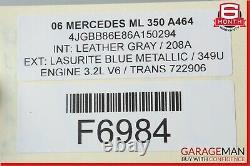 Mercedes W164 ML63 AMG Arrière Pare-Choc Housse Assemblage Sport OEM