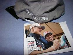 Michael. Schumacher Mercedes Benz Cap Avec Signature Originale Superbe Et Rare