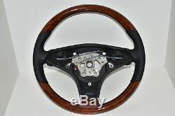 Original Mercedes-Benz Bois Volant Noyer Clair Cuir Nappa Sl R230 SLK R171