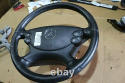 Original Mercedes Benz CLK W209 270CDI Multifonction Volant Gainé de Cuir