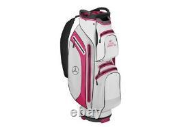 Original Mercedes-Benz Golf-Cartbag Golfbag Sac de Golf Blanc/Fuchsia B66450386
