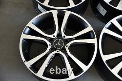 Original Mercedes-Benz Jantes en Alliage Lot 19 Pouces Noir Mat W212 S212 W213