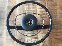 Original Mercedes-Benz W108 W110 W113 W114 W115 Volant Noir avec Moyeu + Coussin