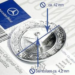 Original Mercedes Emblème Logo Entreprise Calandre W123 W 123 Ancien 1. Série