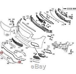 Original et Neuf pour Mercedes C63 W205 AMG Pare Choc avant Centre Droit Moulure