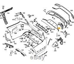 Original et Neuf pour Mercedes MB Classe C W205 AMG Arrière Pare Chocs Diffuseur
