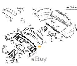Original et Neuf pour Mercedes MB Classe Ml W166 Pare-Chocs Arrière Chrome