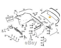 Original et Neuf pour Mercedes MB E Coupé W207 AMG Arrière Pare Chocs Diffuseur