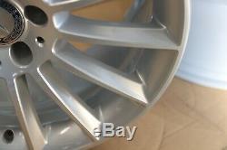 Set 4 Original Mercedes SLK W172 18 Roues Alliage Argent AMG A1724011900